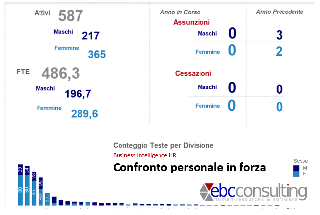 BI HR Analisi differenza di genere Maschi Femmine assunti ridotto